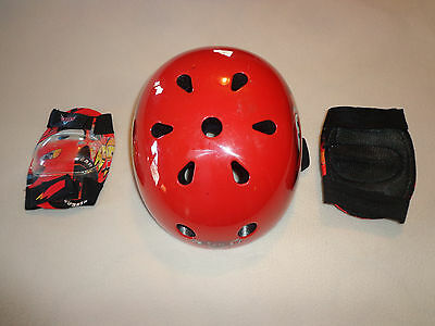 Disney Cars Helmet & Knee Pads For Roller Skating/bike Riding/skateboard-2-8Yrs