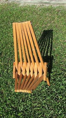 Rare Vintage Mid Century Danish Modern Slat Folding Chair Child Size