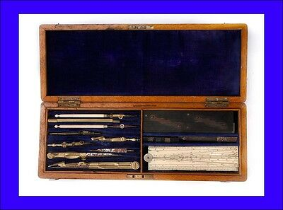 Antique Roberson Set of Drawing Tools for Architects. England, 19th Century