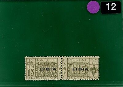 PURPLE12 Italy Colonies LIBYA Parcel Post 1924 15L superb UMM MNH Scott.Q12 $225