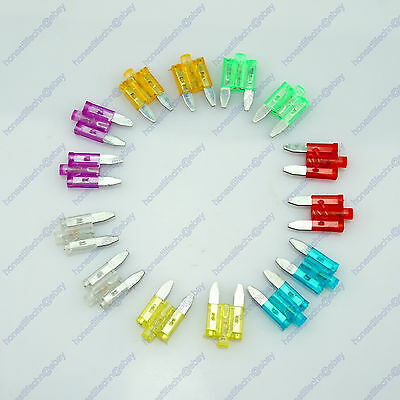 14 Car Vehicle ATS Mini Blade Fuse Kit Status LED 5A 10A 15A 20A 25A 30A 35A
