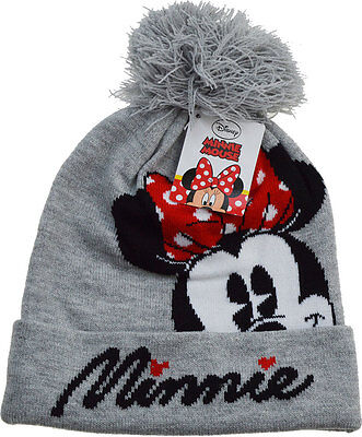 Girls Disney Minnie Mouse Thermal Turn up Winter Beanie Hat