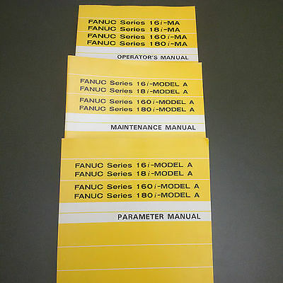Fanuc 16i/18i Set of Manuals Operator Maintenance Parameter