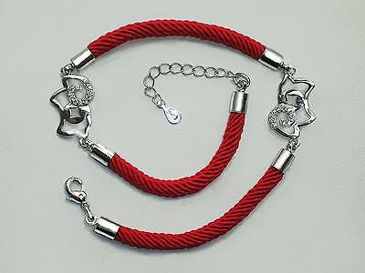 Red string 925 Sterling Silver adjust 11 -10inch Lucky Sheep ankle bracelet