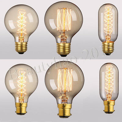 Dimmable Edison Bulbs E27 E14 Screw B22 Bayonet Antique Incandescent Light Lamp