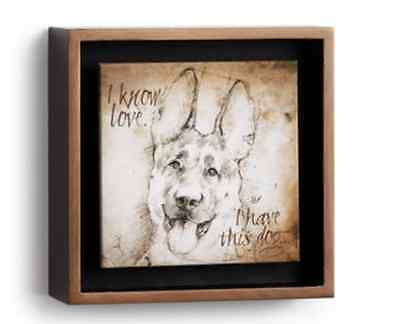 LP German Shepherd, Shadow Box, Big Sky Carvers, Wall Art