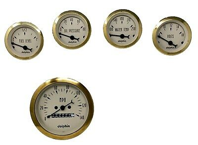 5 gauge mechanical set Gold STREET ROD HOT ROD, UNIVERSAL