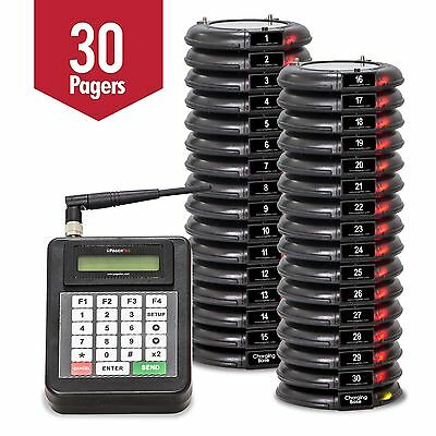 30  Pager Paging System Restaurant /  Guest Table Waiting Paging System NEW