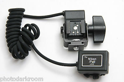 RPS Lighting TTL Cord for Nikon Fuji i-TTL w Swivel 1M Coiled RS-0441/1 NEW E29