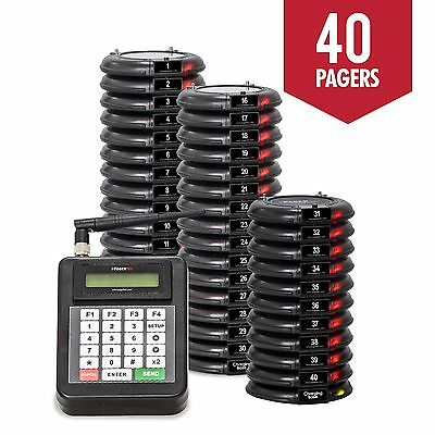 40 Guest Table Waiting Pagers System Beeper Restaurant  Paging System  NEW
