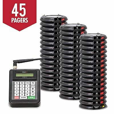 45 Guest Table Waiting Pagers System Beeper Restaurant  Paging System  NEW
