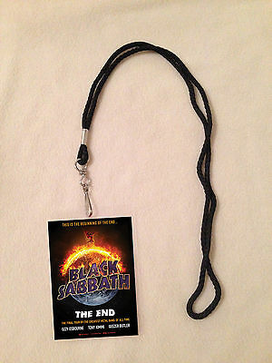 *black Sabbath The End Tour 2016 Vip All Access Backstage Meet Pass W/ Lanyard*