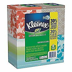 Kleenex Lotion Tissue 4 Boxes 75 Sheets Per Box Designs & colors will vary