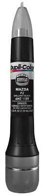 Dupli Color Brilliant Black Mazda Exact Match Scratch Fix Touch Up Paint  0.5 oz
