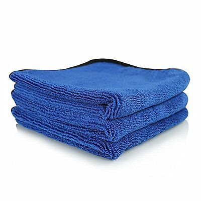 Chemical Guys Monster Extreme Thickness Microfiber Towel Blue  16x16 Pack of 3