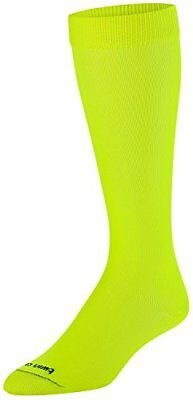 NEW TCK Sports Krazisox Neon Over the Calf Socks Neon Yellow Medium SHIPS FREE