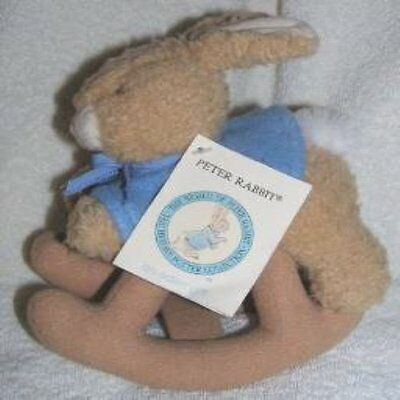 """Eden Beatrix Potter Plush Peter Rabbit Rocking Toy 8"""" NEW WITH TAG!"""