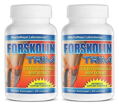 2X Forskolin Trim 10% Coleus Forskohlii Root Extract 125mg Weight Loss