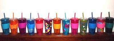 Cool Gear FREEZE ME Freezer Gel Insulated 24 oz Travel Tumbler Cup BPA FREE NEW