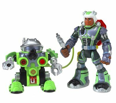 Rescue Heroes Robotz Tectonic and Rocky Canyon talking action figures