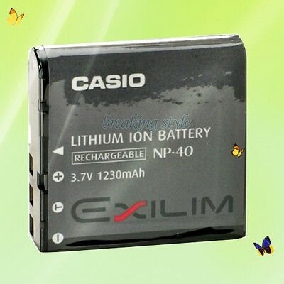 Genuine Casio NP-40 Long Lasting Rechargeable Li-Ion Battery 1300mAh 4.9Wh 3.7V