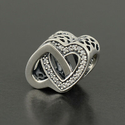 Authentic Genuine Pandora Sterling Silver Entwined Love Charm - 791880CZ
