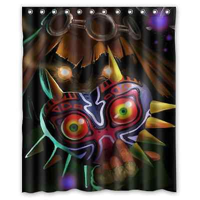 The Legend of Zelda Mask Polyester Waterproof Bath Shower Curtain 60 x 72 Inch