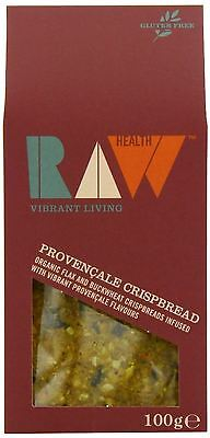 Raw Health Organic Herbs de Provence Raw Crispbread 100g (Pack of 2)