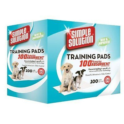 Puppy Dog Toilet Training Pads Absorbent Simple Solution 100 Pad Pack Non Slip