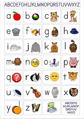 """010 EARLY LEARNING ABC ALPHABET LAMINATED EDUCATIONAL 24""""x34"""" Poster"""