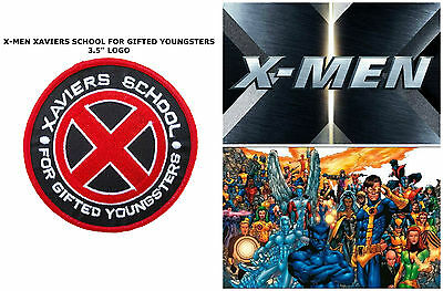 """Marvel Comics X-Men - Xaviers School for Gifted Youngsters 3.5"""" Patch US Seller"""