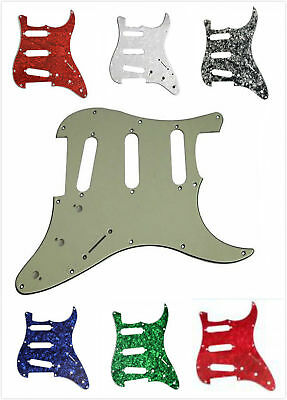 Guitar Pickguard 3 Ply 11 Hole Scratchplate For Fender Strat Stratocaster SSS