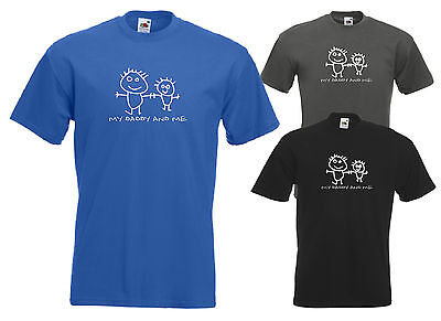 Men's T-Shirt My Daddy and Me Father and Son Fathers Day Gift Dad Drawing Kids
