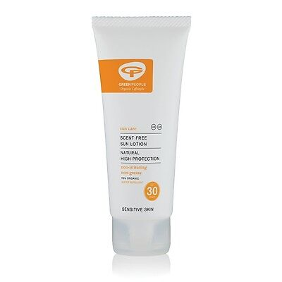 Green People Organic Scent Free Sun Lotion SPF 30 (100ml) | FREE Express P&P