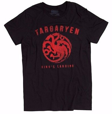 "Game Of Thrones KINGS LANDING TARGARYEN SIGIL ""DRAGON"" T-Shirt NWT Licensed"
