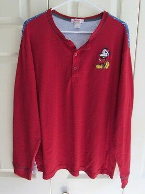 Disney Store House Of Mickey Mouse Large Vintage Graphic Thermal Men's Xl Euc!