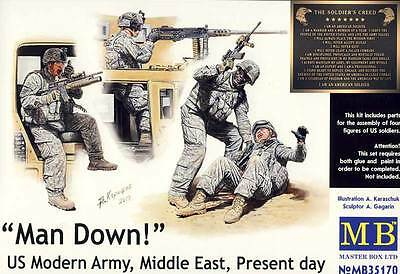 Masterbox Modern US Army Middle East Man Down 1:35 Modell-Bausatz Moderne Armee