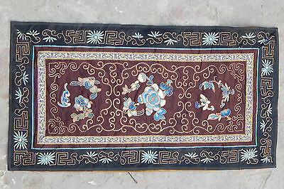 Antique Chinese Hand Embroidery Scenery,Panel,Wall Hanging On Silk 62X33cm (X99)