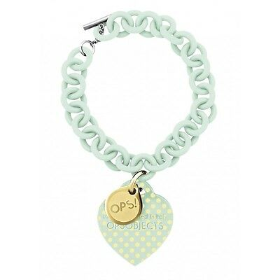 Ops Objects bracelet Pois Collection color light green/yellow dots OPSBR-93