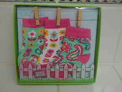 Vera Bradley Baby Socks 3 Pair In TUTTI FRUTTI NEW 0 -12 Months