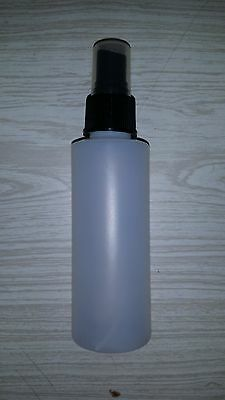 100 pieces 4 oz Cylinder Bottle 24/410 Natural Plastic HDPE With Black Spray Cap