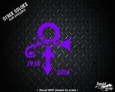"""Prince Tribute Decal in PURPLE for Car laptop 4"""""""
