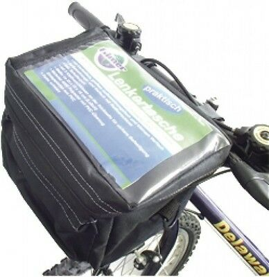 Handlebar Bag Bike Bicycle Basket Shopping Black 3 Compartments New
