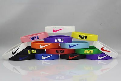 Nike Sport Baller Band Silicone Rubber Bracelet Wristband PICK FROM 30 COLORS