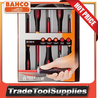 Bahco 7 Piece 1000v Insulated ERGO™ Screwdrivers Set BE-9888S