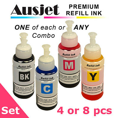 Ausjet 664 /T664 Ink Refill Bottle for Epson Ecotank ET-2500,2550,2610,2650,4500
