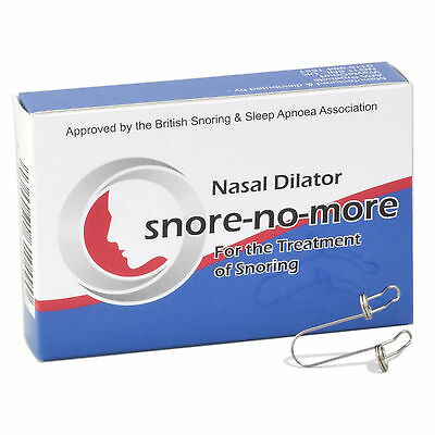 Snore-no-More metal nasal dilator SnoreNoMore Snore No More Snoring