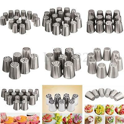 6/7/8/15/17X Russian Icing Piping Nozzles Cake Decorating Sugarcraft Pastry Tool