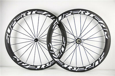 RACING BICYCLE 50mm Carbon Wheelset Clincher R13 Road Bike Wheels 23mm wide 700C