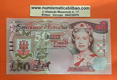 GIBRALTAR 50 POUNDS 1995 ELIZABETH II CHURCHILL Pick 28 UNC GREAT BRITAIN GB UK